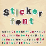 Sticker font Royalty Free Stock Photo