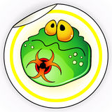Sticker with germ Royalty Free Stock Photography