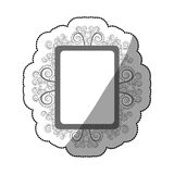 Sticker gray scale square vintage baroque frame Stock Images