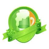 Sticker Green Beer St Patrick's Day Royalty Free Stock Photography