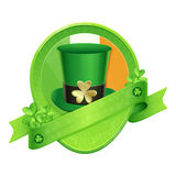 Sticker Green Cylinder St Patrick's Day Royalty Free Stock Images
