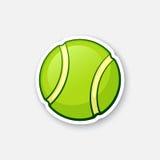 Sticker green tennis ball Stock Photo