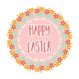 Sticker happy Easter. Easter single icon in cartoon style rater,bitmap symbol stock illustration. Royalty Free Stock Photos