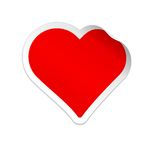 Sticker heart. Vector illustration Stock Photography