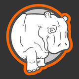 Sticker hippo Stock Photos