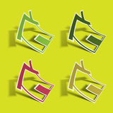 Sticker. Home icon. Stock Photo