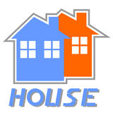 Sticker house Stock Images