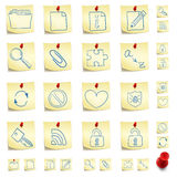 Sticker Icon Set. Isolated on White Background. Vector EPS8 Royalty Free Stock Photo