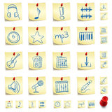 Sticker Icon Set Stock Image