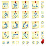 Sticker Icon Set Stock Photography