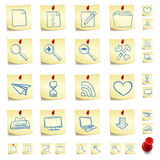 Sticker Icon Set. Isolated on White Background. Vector EPS8 Royalty Free Stock Image