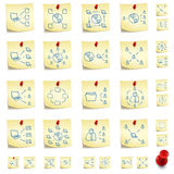Sticker Icon Set Stock Images