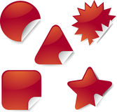 Sticker icon set Royalty Free Stock Image
