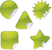 Sticker icon set Royalty Free Stock Photos