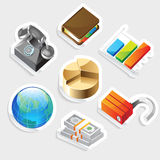 Sticker icon set for business metaphors Stock Images