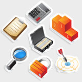 Sticker icon set for business and success Stock Photo