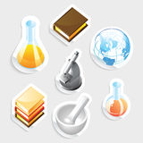 Sticker icon set for education Stock Image