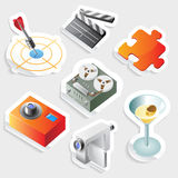 Sticker icon set for leisure Royalty Free Stock Photos