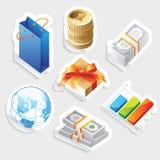 Sticker icon set for retail Royalty Free Stock Photos