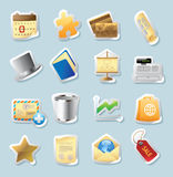 Sticker icons for business and finance Royalty Free Stock Photography