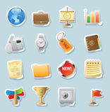 Sticker icons for business and finance. Sticker button set. Icons for business and finance. Vector illustration Royalty Free Stock Images