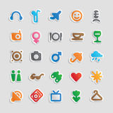 Sticker icons for entertainment Stock Photo