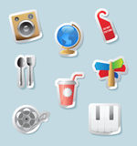 Sticker icons for entertainment Stock Photos