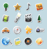 Sticker icons for entertainment Royalty Free Stock Photography