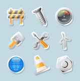 Sticker icons for industry Royalty Free Stock Photo