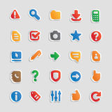 Sticker icons for interface stock illustration