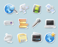 Sticker icons for media Royalty Free Stock Photos