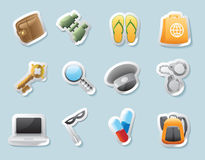 Sticker icons for personal belongings vector illustration