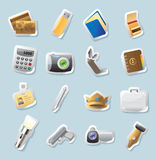 Sticker icons for personal belongings royalty free illustration