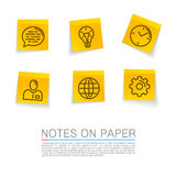 Sticker icons process Stock Photography