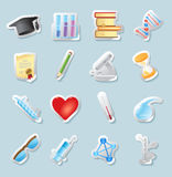 Sticker icons for science and education Royalty Free Stock Photography