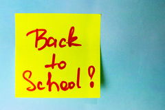 Sticker with inscription back to school stock images