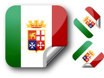 Sticker with Italy flag. Stock Photos