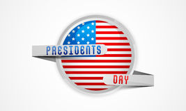 Sticker or label for American Presidents Day celebration. Royalty Free Stock Image