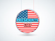 Sticker or label for American Presidents Day celebration. Royalty Free Stock Photo