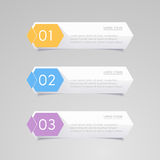 Sticker label, Colorful paper set Stock Photography