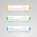 Sticker label, Colorful paper set Royalty Free Stock Images