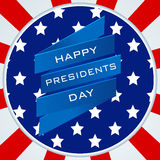 Sticker or label design for Happy Presidents Day celebration. Stock Photography