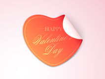 Sticker or label design for Happy Valentines Day. Stock Photography
