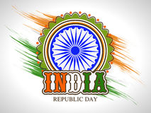 Sticker or label design for Indian Republic Day celebration. Stock Photography