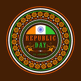 Sticker or label design for Indian Republic Day celebration. Stock Photos