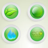 Sticker or label design for Save Ecology concept. Royalty Free Stock Images