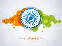 Sticker or label for Happy Indian Republic Day celebration. Royalty Free Stock Photography