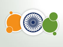 Sticker or label for Happy Indian Republic Day celebration. Royalty Free Stock Photos