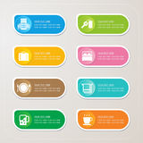 Sticker label with Hotel icons Stock Images