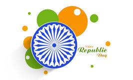 Sticker or label for Indian Republic Day celebration. Stock Image